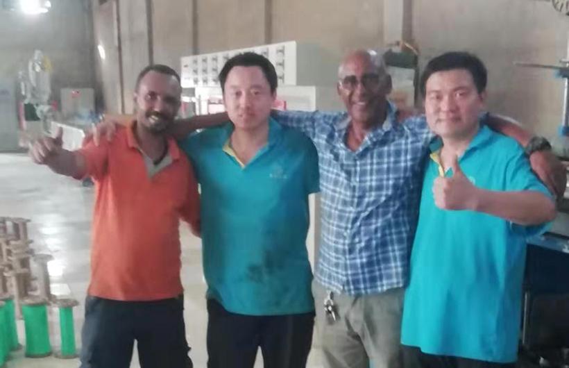 2019年7月,摩登6娱乐前往苏丹为客户购买设备进行安装调试